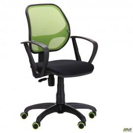 Кресло Бит Color/АМФ-7 сиденье Сетка черная/спинка Сетка салатовая