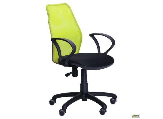 Кресло Oxi/АМФ-4 сиденье Сетка черная/спинка Сетка лайм