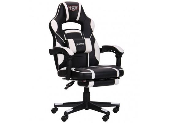 Кресло VR Racer Dexter Vector черный/белый