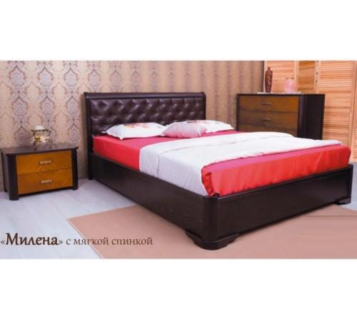Кровать Милена с мягкой спинкой ромбы