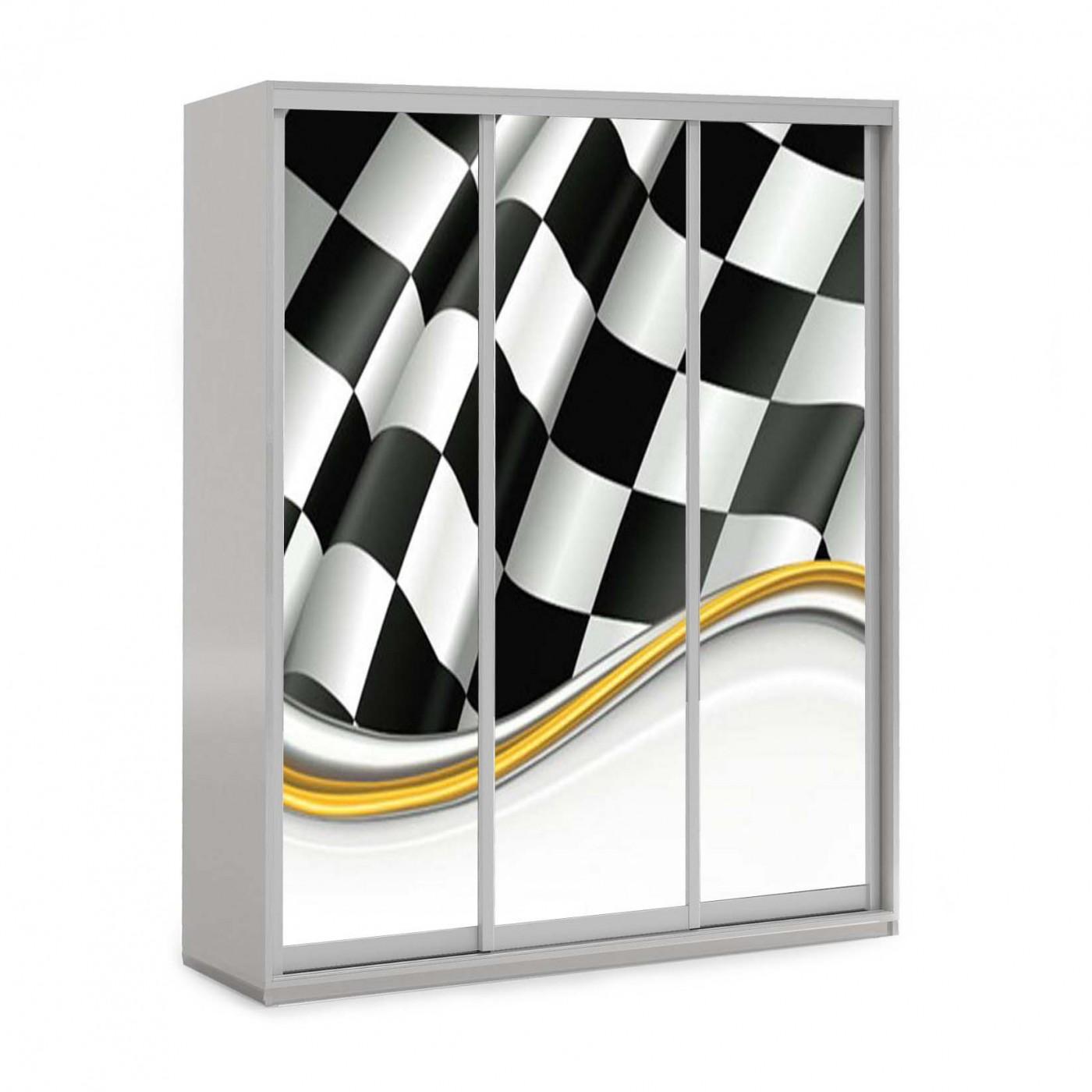 Трёхдверный шкаф-купе от Viorina-Deko