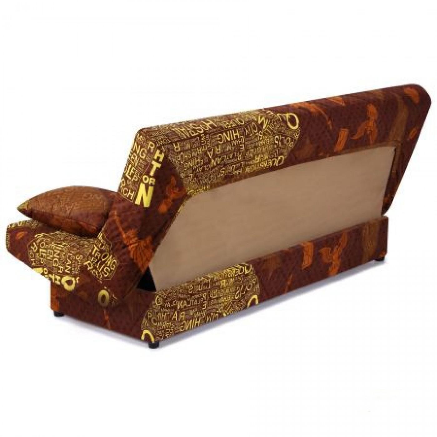 """Диван-кровать Ньюс механизм """"клик-кляк"""" State brown с двумя подушками"""