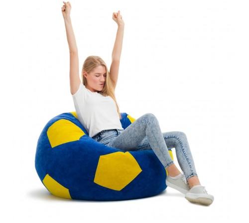 Кресло мешок Мяч (оксфорд) синий+желтый