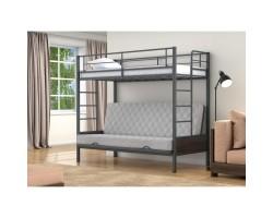 Дакар Кровать двухъярусная металлическая с диваном