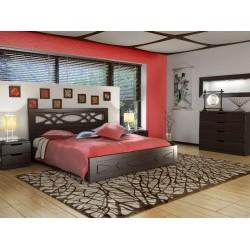 Кровать ЛИАНА с газовыми подьемниками и металлическим каркасом