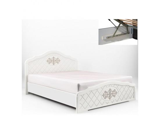 Кровать ЛЮЧИЯ с газовыми подьемниками и металлическим каркасом