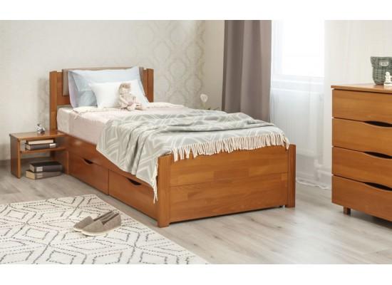 Кровать Лика Люкс с мягкой спинкой и ящиками