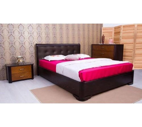 Кровать Милена с мягкой спинкой квадраты с механизмом