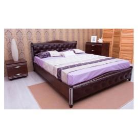 Кровать Прованс с патиной и фрезеровкой мягкая спинка ромбы с механизмом