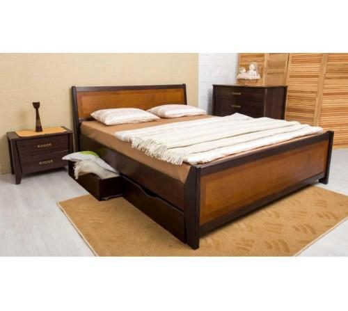 Кровать Сити с интарсией и ящиками