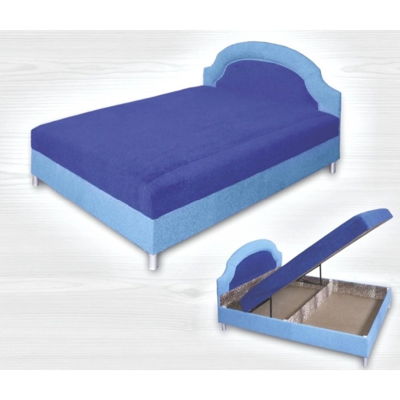 Кровать Слава (1.6 , пр. бл. , никелир. ножка)
