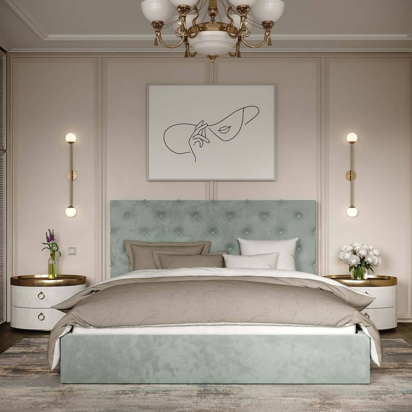 Кровать Велюр с подъемным  механизмом