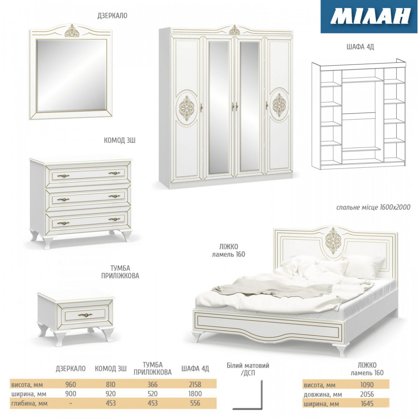 Милан кровать