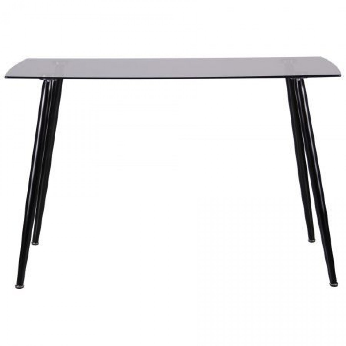 Стол обеденный Умберто черный/стекло тонированное серое
