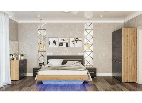 Бьянко Кровать 160х200 (с подсветкой)