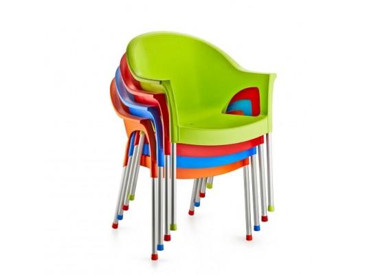 Кресло Bergama. Алюминиевые ножки.