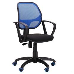 Кресло Бит/АМФ сиденье А-1/спинка Сетка Синяя