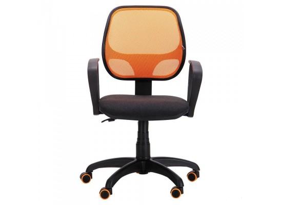 Кресло Бит/АМФ сиденье А-1/спинка Сетка Оранжевая