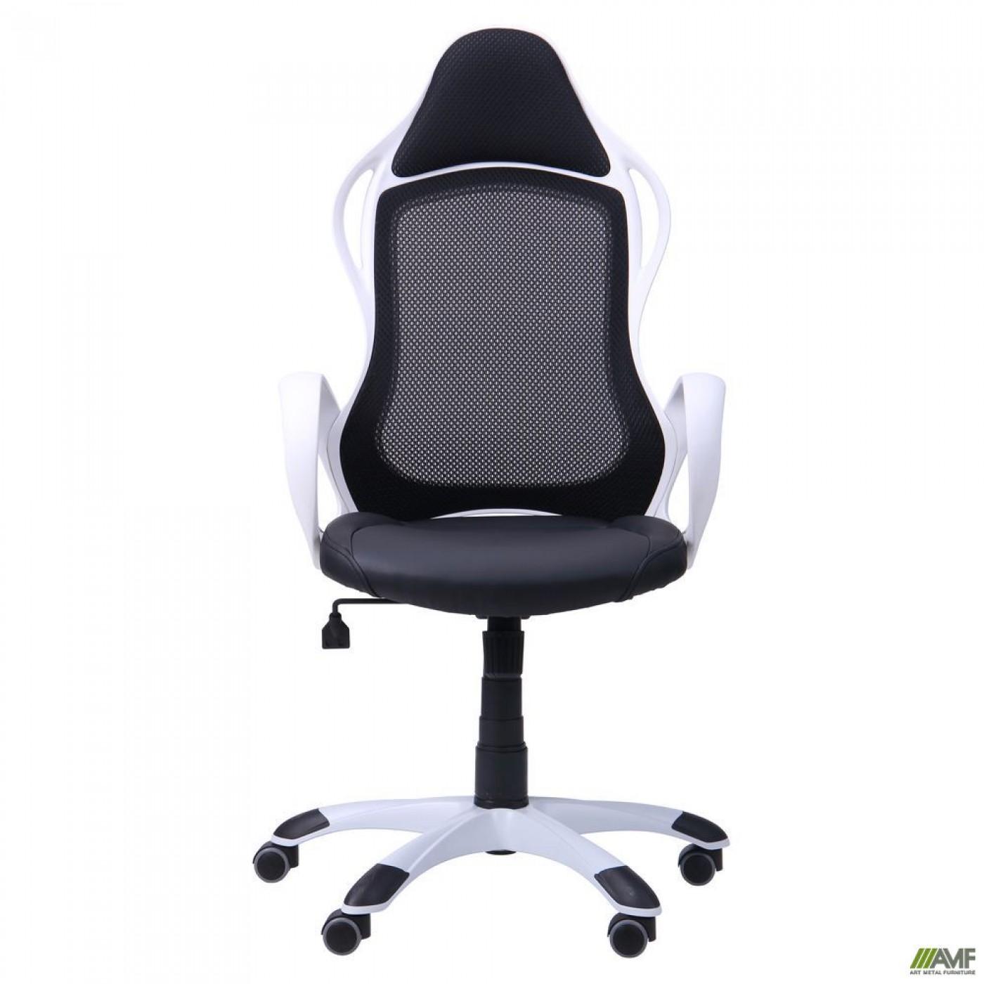 Кресло Nitro белый, сиденье Неаполь N-20/спинка Сетка черная