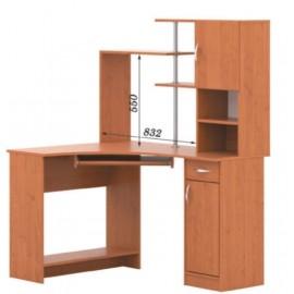 Стол компьютерный с надстройкой СКУ - 01 + Н - 17