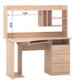 Стол компьютерный с надстройкой СПК - 01 + Н - 03