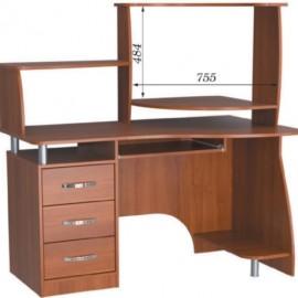 Стол компьютерный с надстройкой СПК - 02 + Н - 18