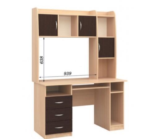 Стол компьютерный с надстройкой СПК - 03 + Н - 16