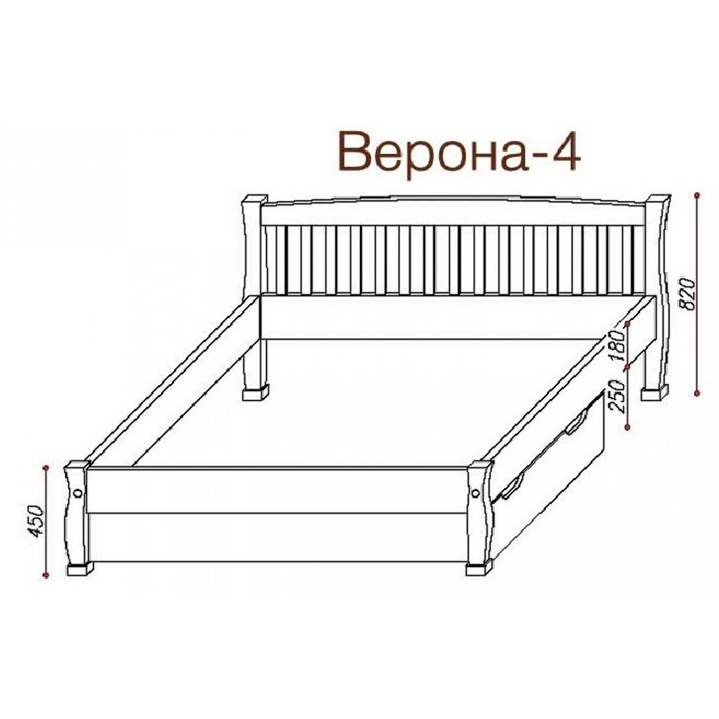 Кровать Верона-4 без ящиков