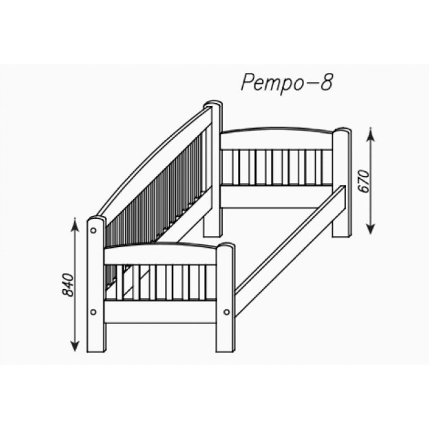 Кровать «Ретро-8»
