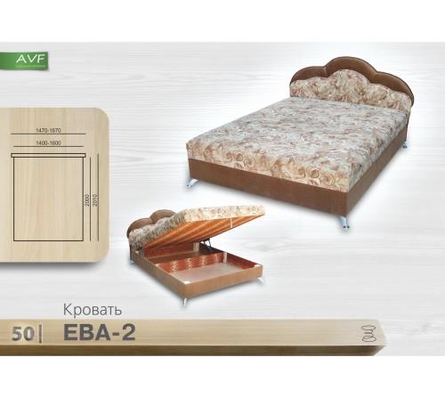 Кровать Ева 2 (1.4 , пр. бл. , никелир. ножка)