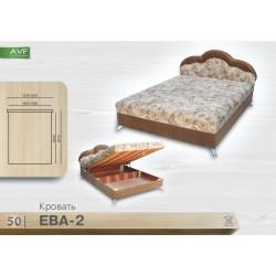 Кровать Ева 2 (1.6 , пр. бл. , никелир. ножка)