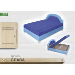 Кровать Слава (1.4 , пр. бл. , никелир. ножка)