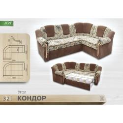"""Угловой диван """"Кондор"""" (пружинный блок)"""