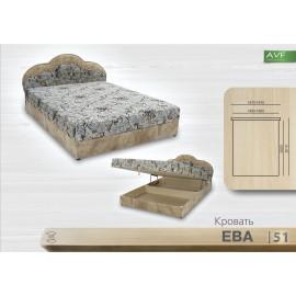 Кровать Ева (1.6 , пр. бл.)
